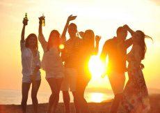 groep op het strand